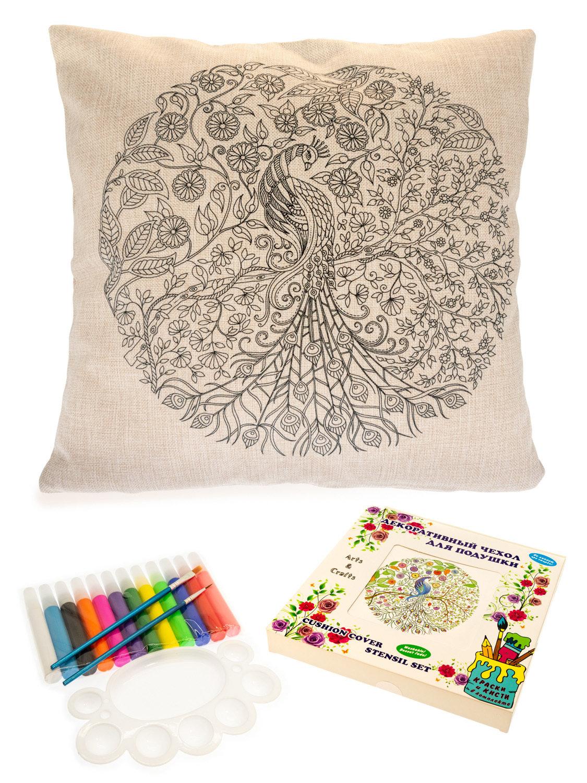 Жар-Птица. Чехол для подушки + краски и кисти