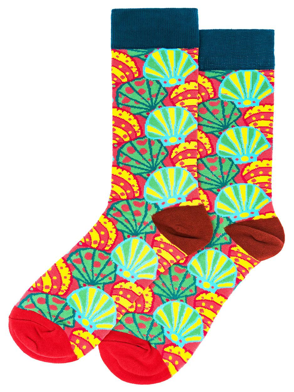 Носки Разноцветные ракушки