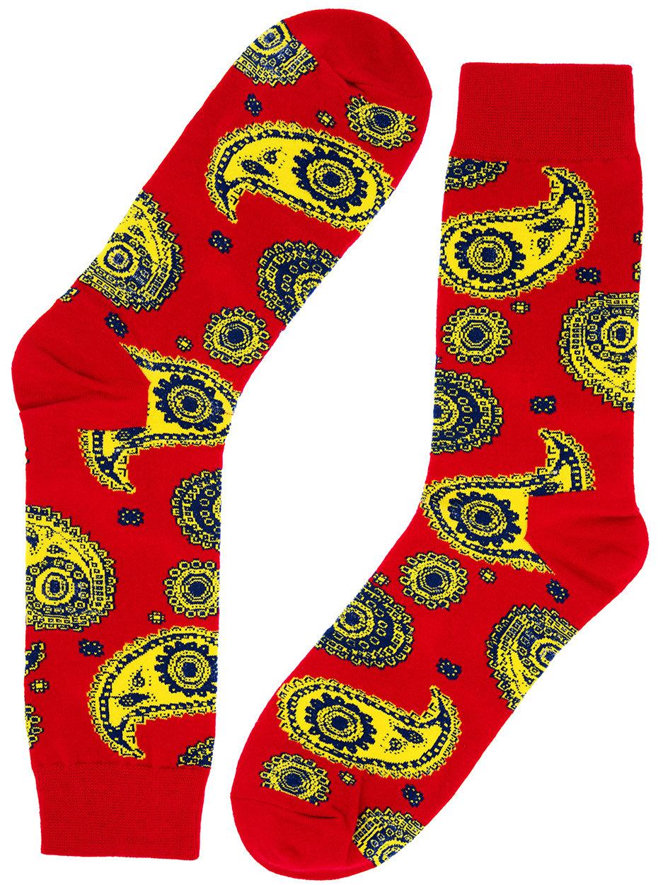 Носки Огурцы красные с синим