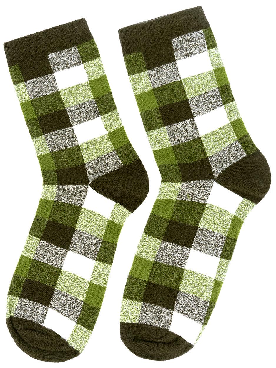 Носки Шотландка зеленые