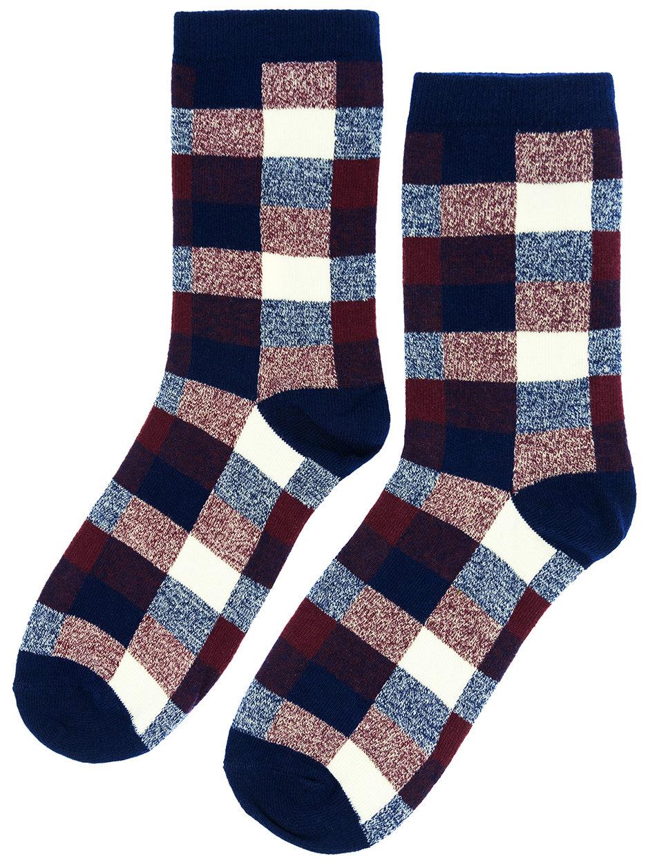 Носки Шотландка фиолетовые