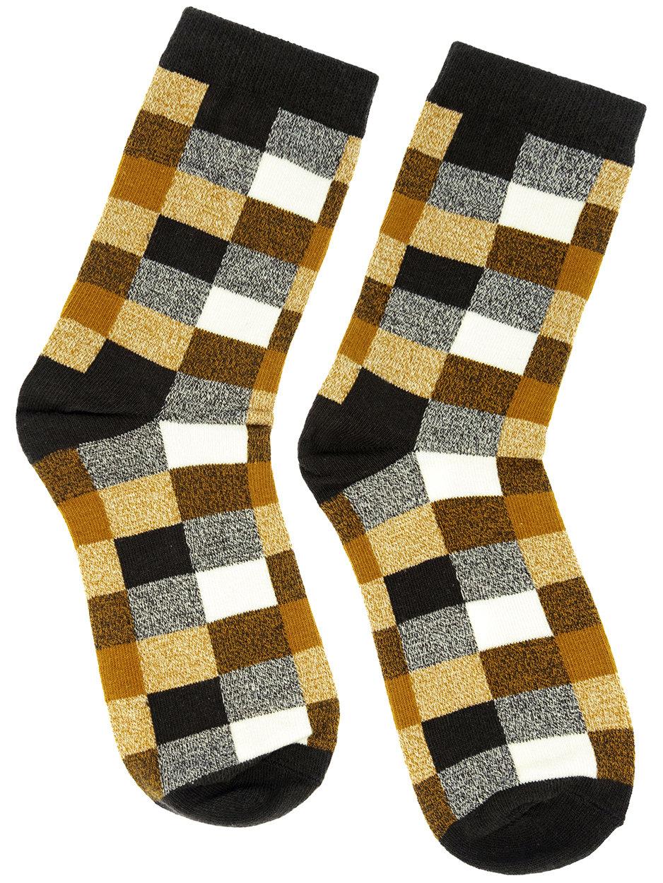 Носки Шотландка коричневые