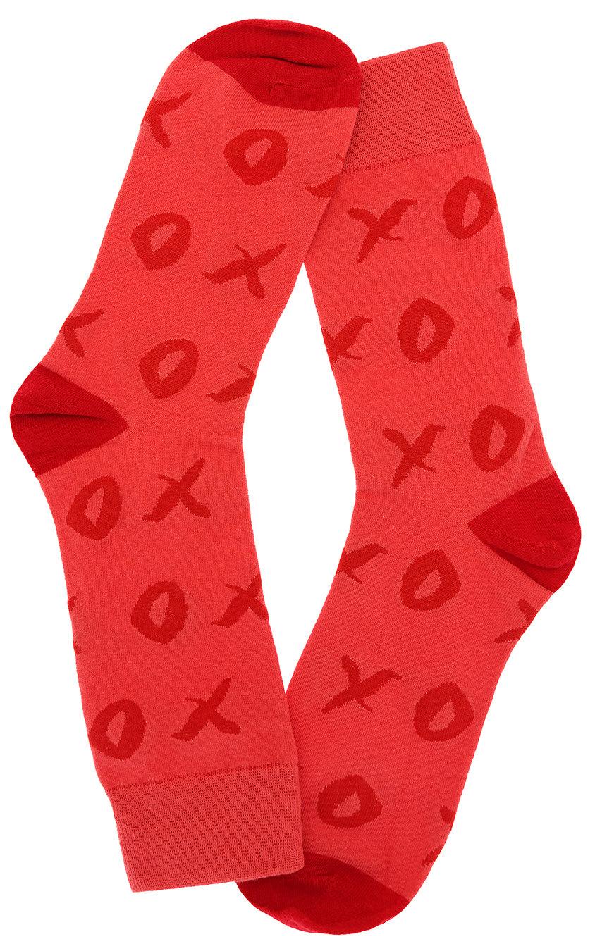 Носки Крестики-нолики TIC TAC TOE красные
