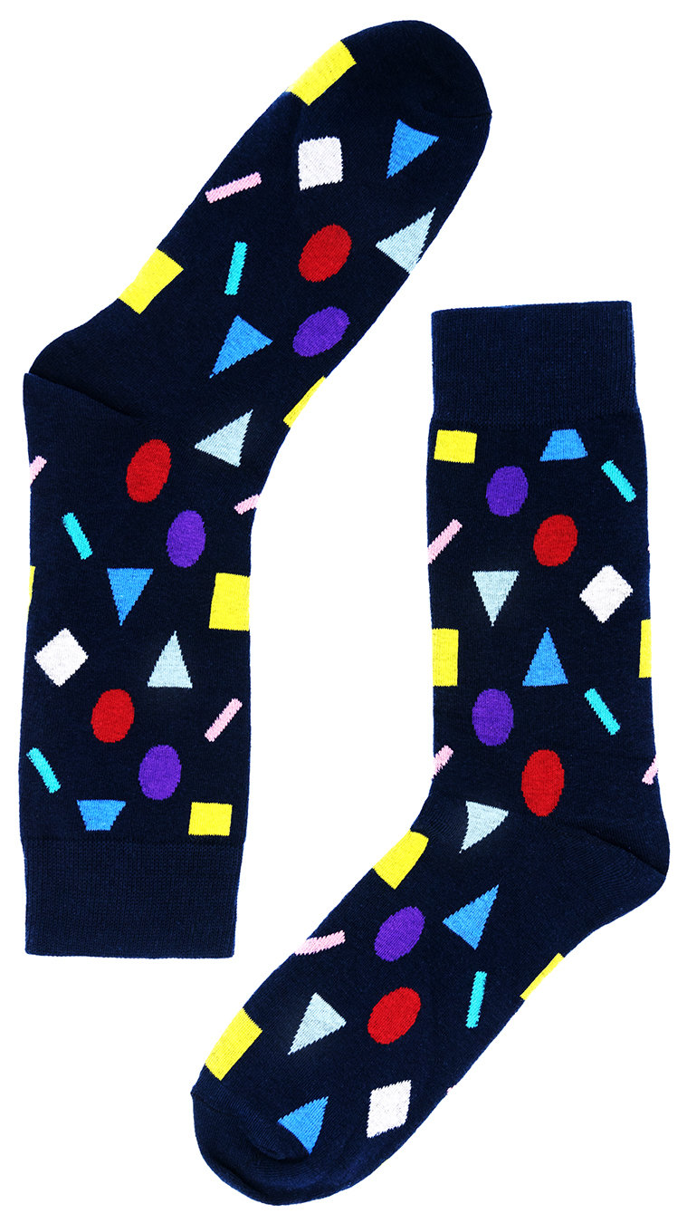 Носки Цветная Геометрия синие
