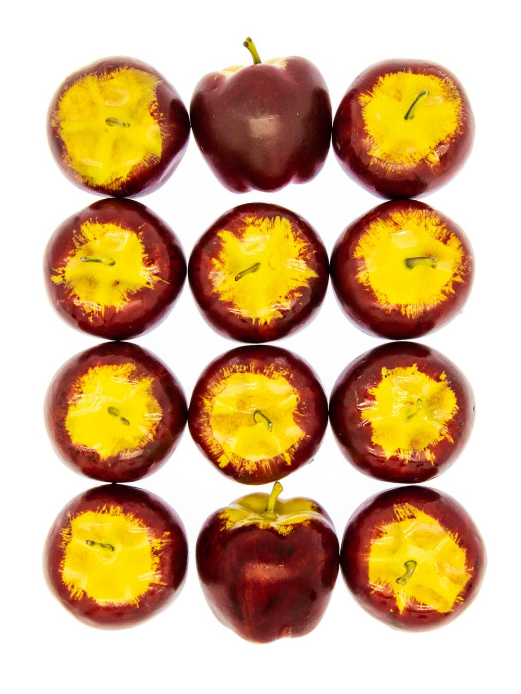 Счетный материал. Яблочки большие. Развивающий набор. 12 элементов