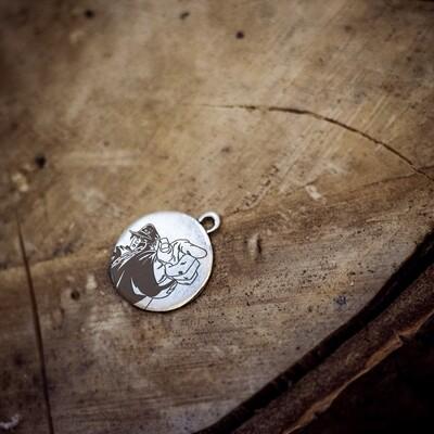 Jotaro Kujo anime silver pendant / JoJo's Bizarre adventure necklace
