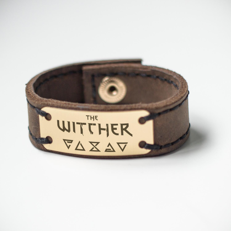 The Witcher bracelet genuine leather / Geralt bracelet