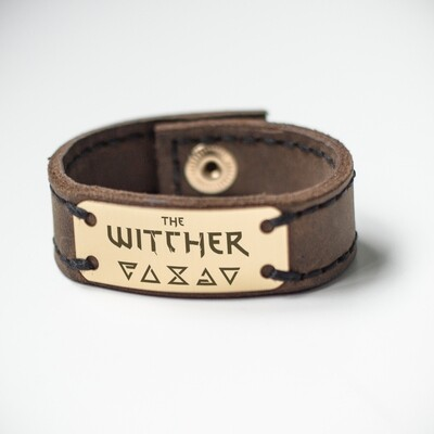 The Witcher bracelet genuine leather / Geralt bracelet