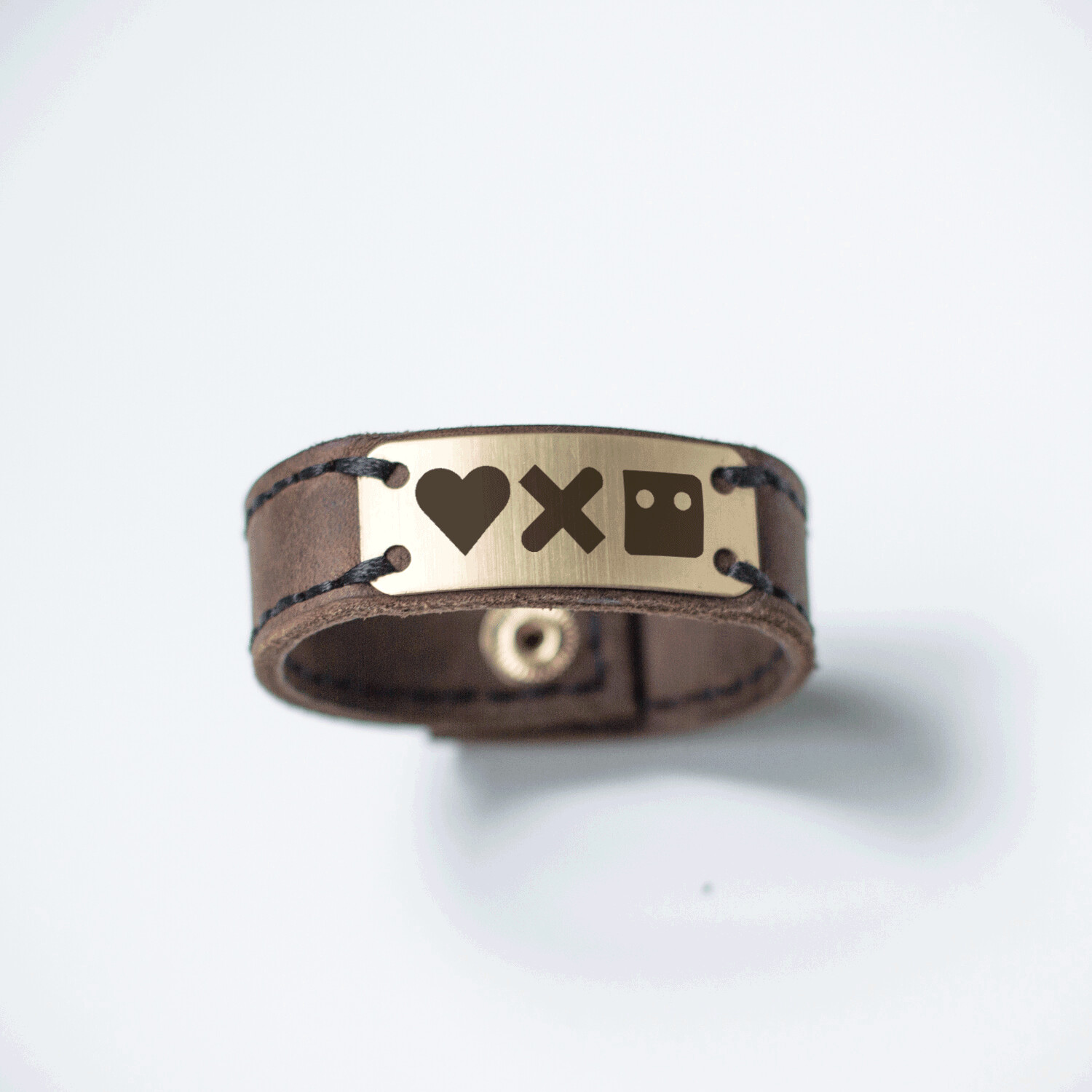 Love Death and Robots custom bracelet / genuine leather