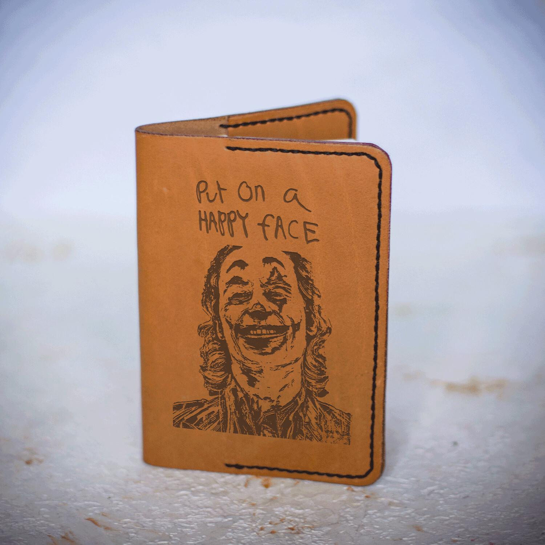 Joker passport cover / Joaquin Phoenix / put on a happy face
