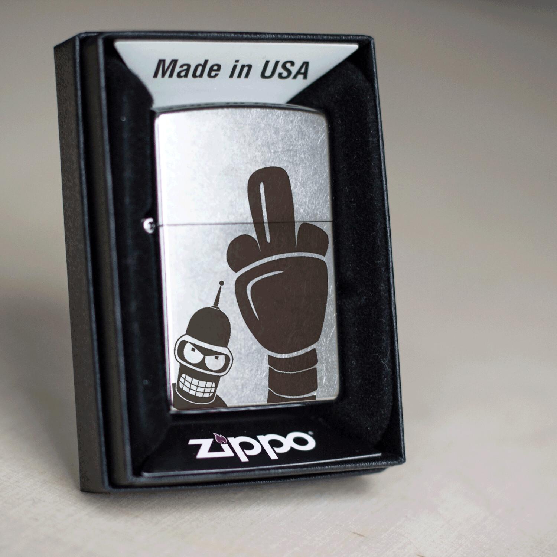 Bender custom Zippo 207 lighter / Futurama