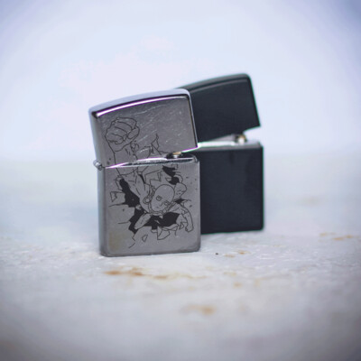 One Punch Man / Saitama / Bald Cape custom zippo 207 lighter