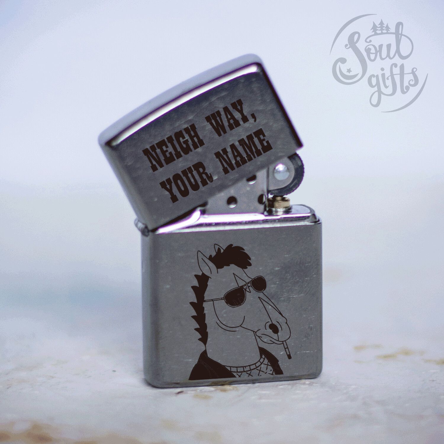 Bojack Horseman Zippo 207 lighter /  Neigh way, Jose / Custom zippo lighter