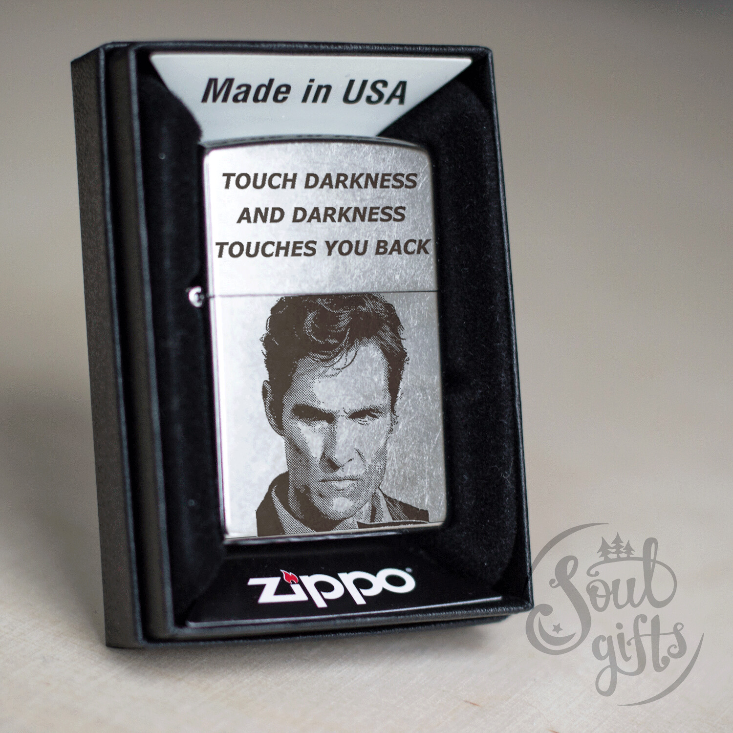 True detective custom Zippo 207 lighter / Matthew McConaughey