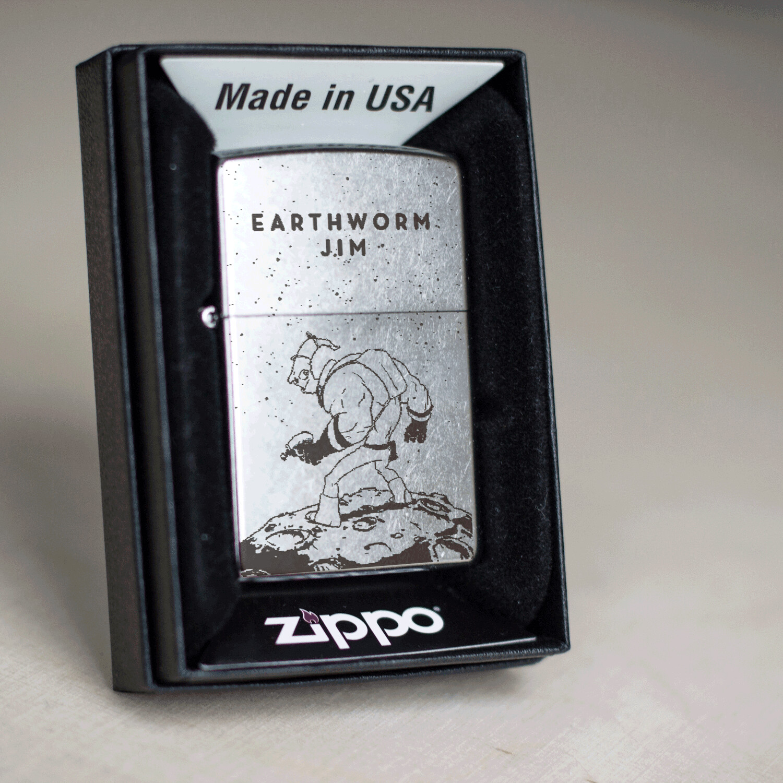 Earthworm Jim custom zippo 207 lighter / Sega mega drive gift