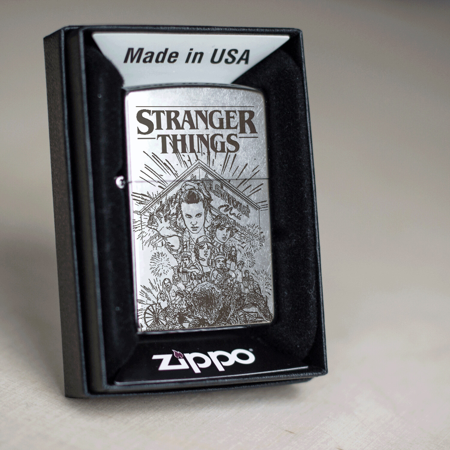 Stranger Things custom Zippo 207 lighter / Eighties / Millie Bobby Brown