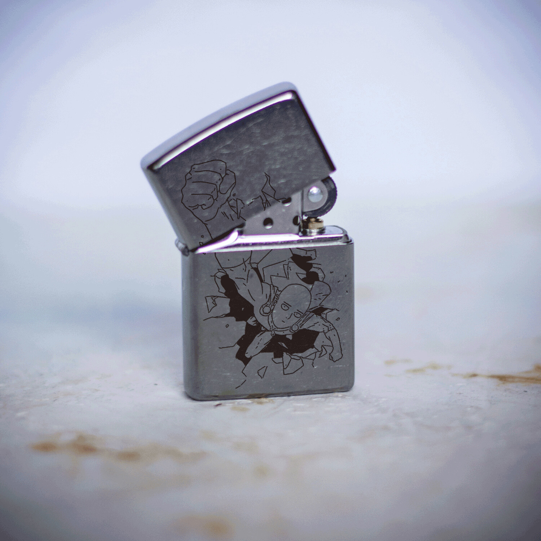 One Punch Man / Saitama / Bald Cape custom zippo