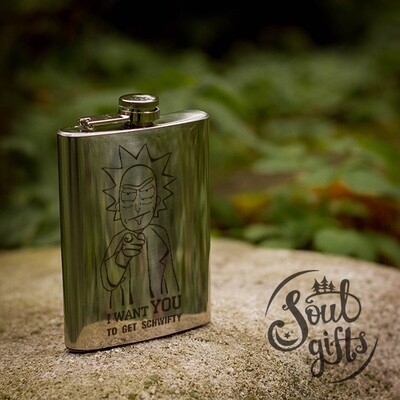Rick and Morty flask / Uncle Rick