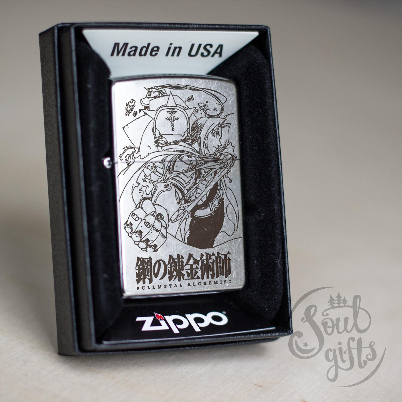 Custom Zippo 207 Fullmetal Alchemist  / Edward and Alphonse Elric Oil Lighter Anime
