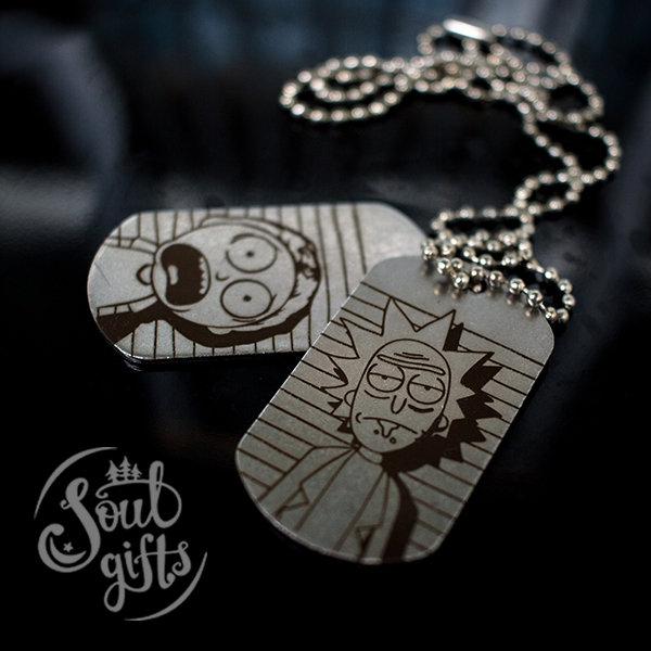 Rick and Morty dog tag / Rick and Morty pendant