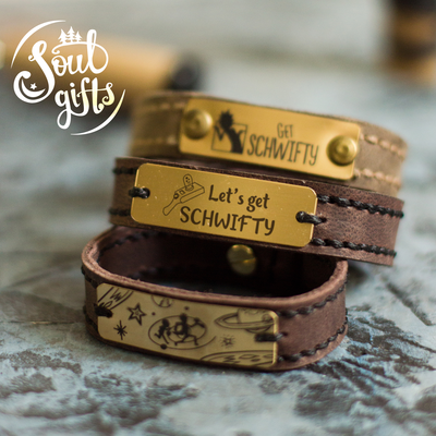 Genuine leather bracelet Rick and Morty