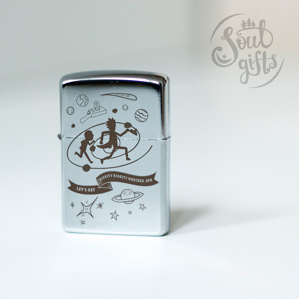 Windproof lighter Rick and Morty / 20 minutes adventure