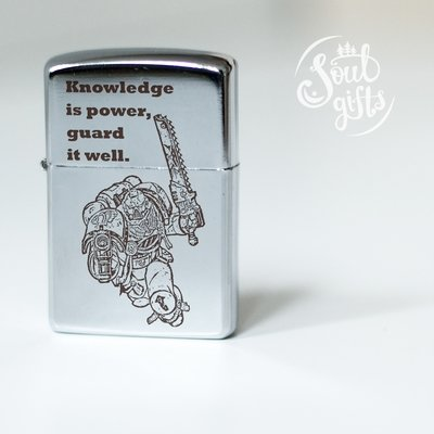 Warhammer 40K lighter / Blood Ravens / For the Emperor