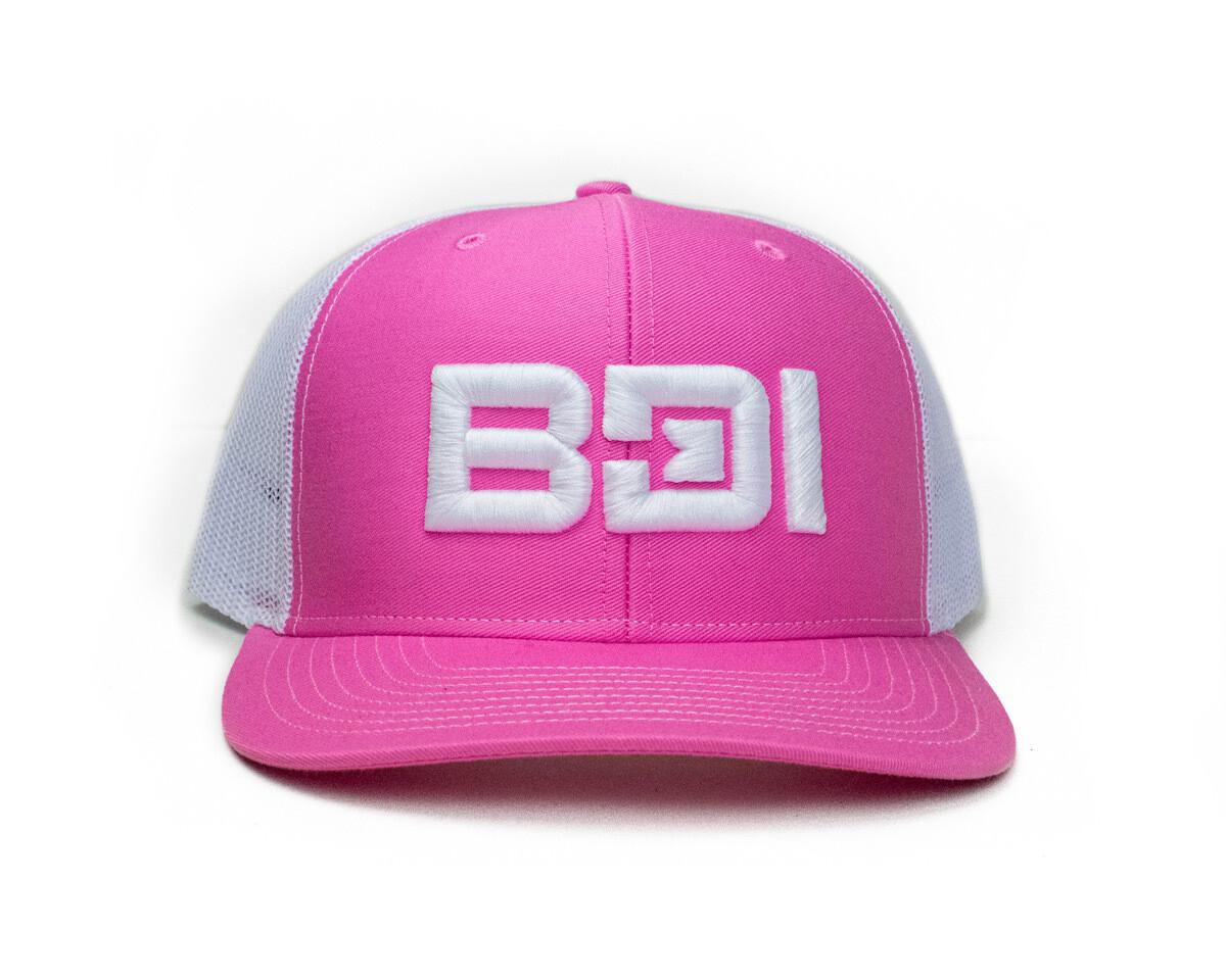 BDI Puff Embroidered Richardson Cap - Pink & White