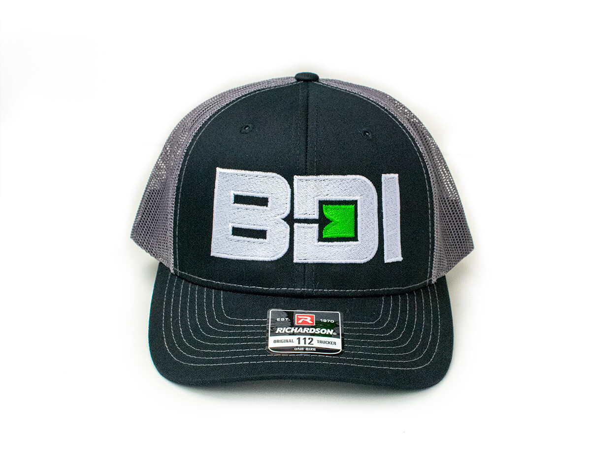BDI Logo Richardson Cap - Black Front & Charcoal Mesh Back