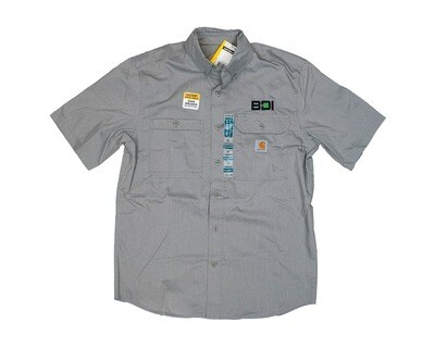 CARHARTT FORCE® RIDGEFIELD SOLID LONG SLEEVE SHIRT - ASPHALT (PROJECT MANAGERS ONLY)