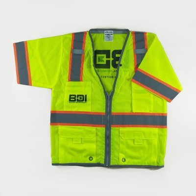 ML Kishigo 1550 Brilliant Series Class 3 Heavy Duty Safety Vest - Yellow/Lime