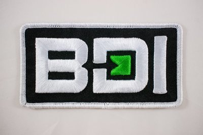 BDI Embroidered Patch with 3D Puff Shape