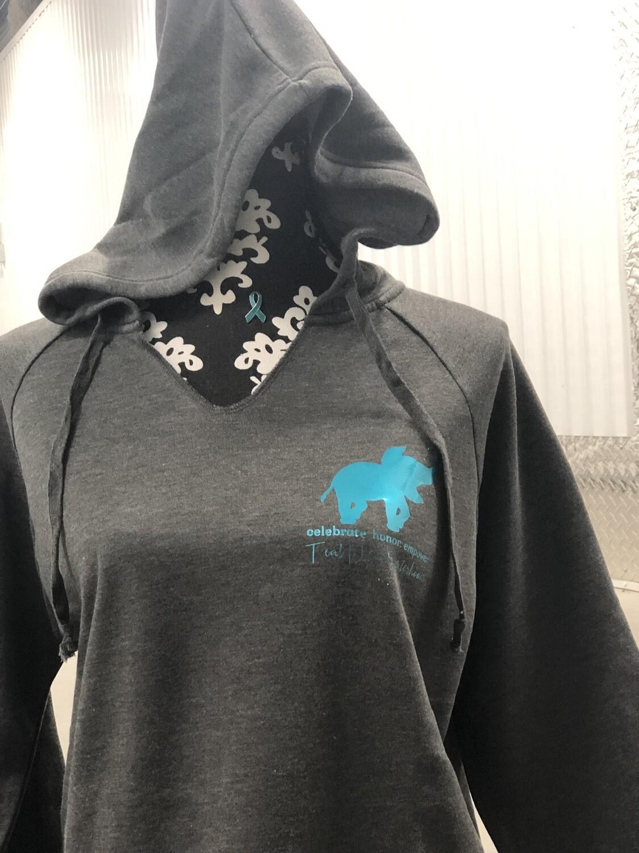 Sweatshirt - Hooded, Grey Sisterhood Elephant