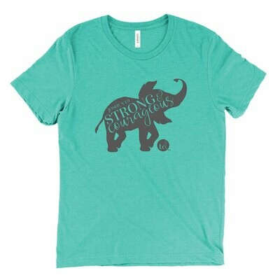 T-shirt Elephant Scripture - Teal