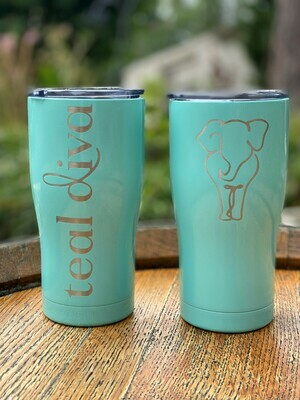 Drinkware - Tiffany Blue Sparkle Tumblers