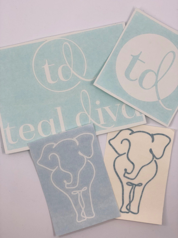 Teal Diva Vinyl Car Stickers