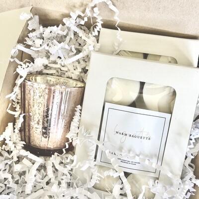 Rose Gold Tealight Gift Set