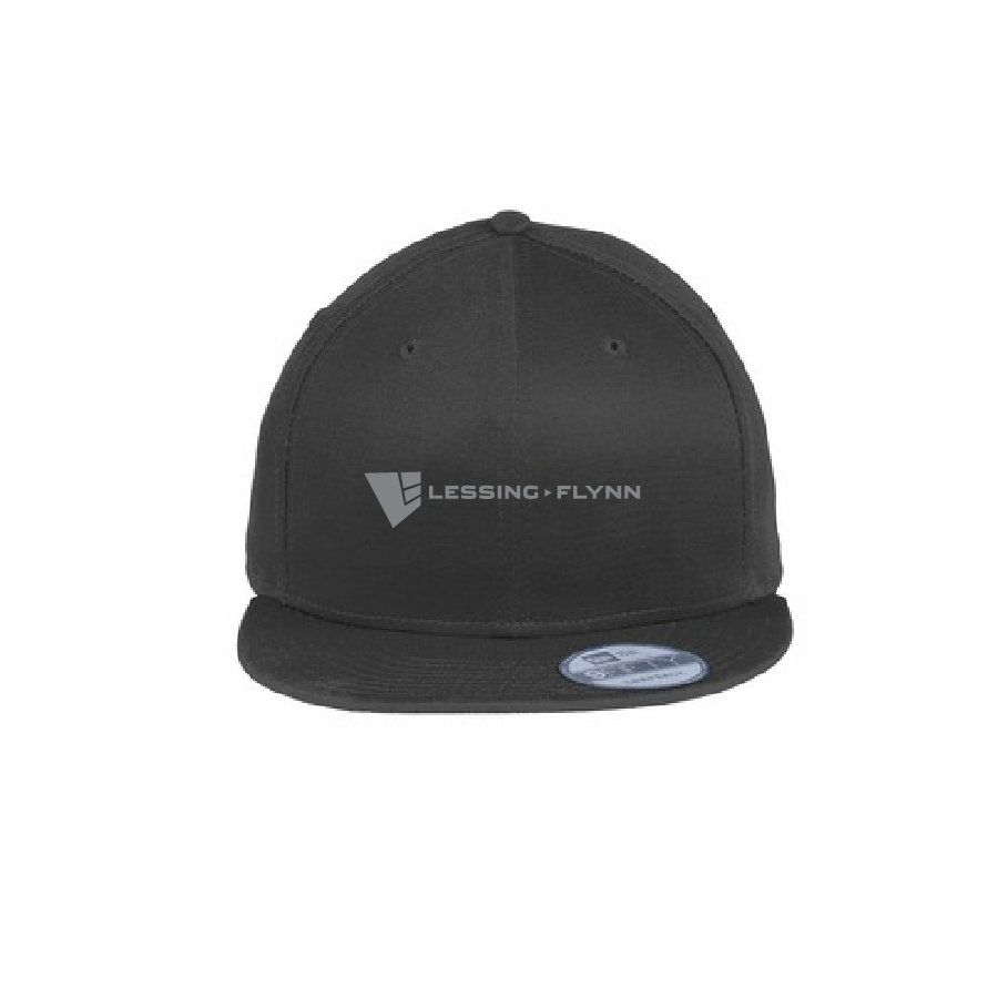 New Era Flat Bill Snapback Cap w/ Embroidered Logo