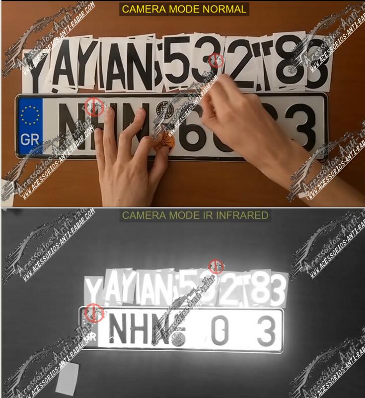 14 Anti Radar Stickers Photo blocker speedcam and red-Light