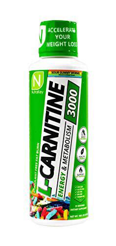 L-Carnitine 3000 Sour Gummy Worms