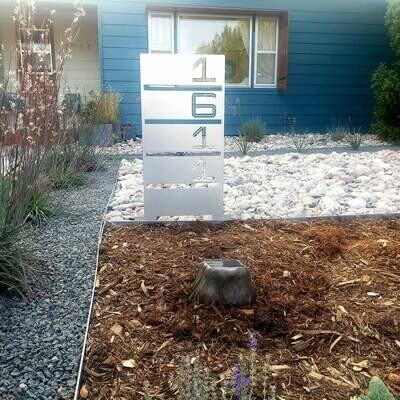 Yard Address Sign