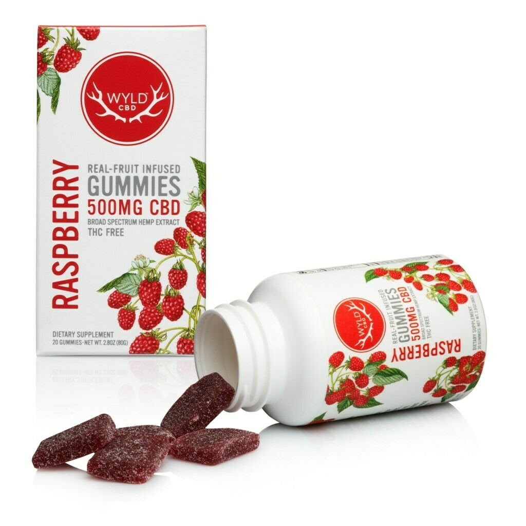 Wyld CBD Raspberry Gummies | 500MG