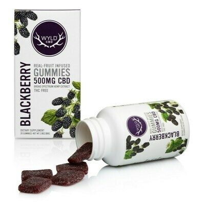 Wyld CBD Blackberry Gummies | 500MG