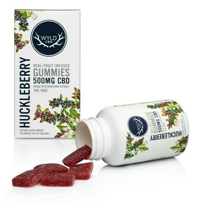 Wyld CBD Huckleberry Gummies | 500MG