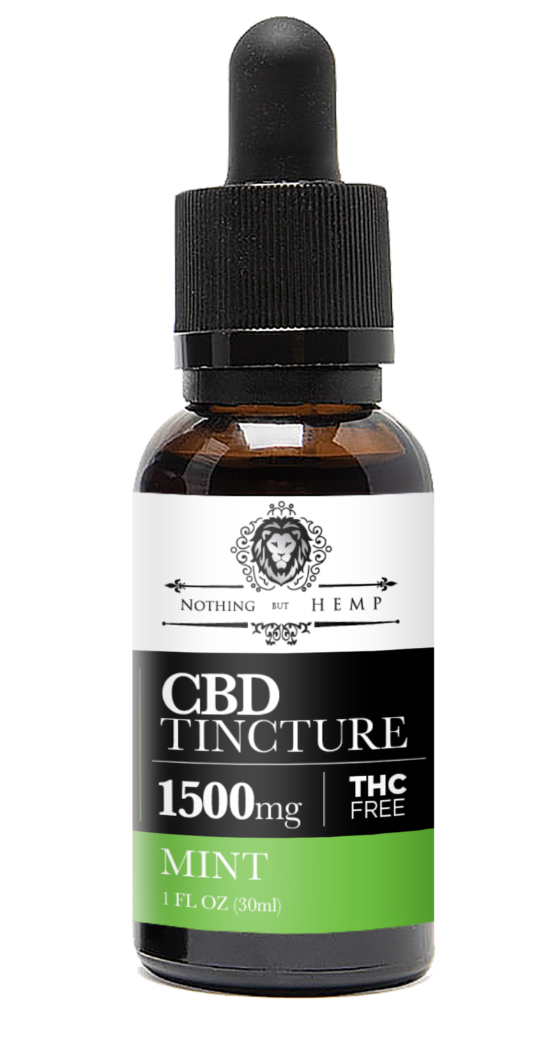 1500MG CBD OIL | Mint |  Nothing But Hemp | Broad