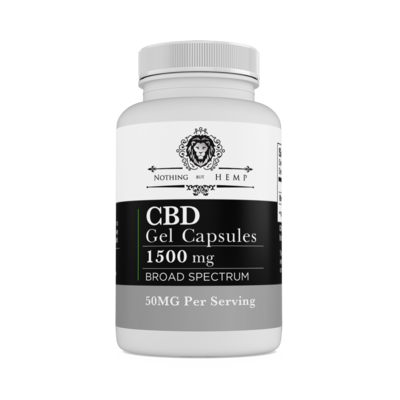 Nothing But Hemp | Broad Spectrum| 1500MG Capsules