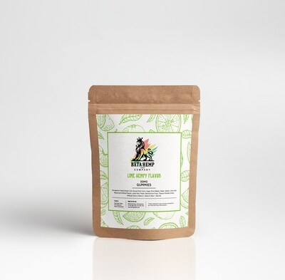 Bata Hemp | 50MG | Lime Hempy Gummies | 10 Per Unit | Bundle 3 Packs