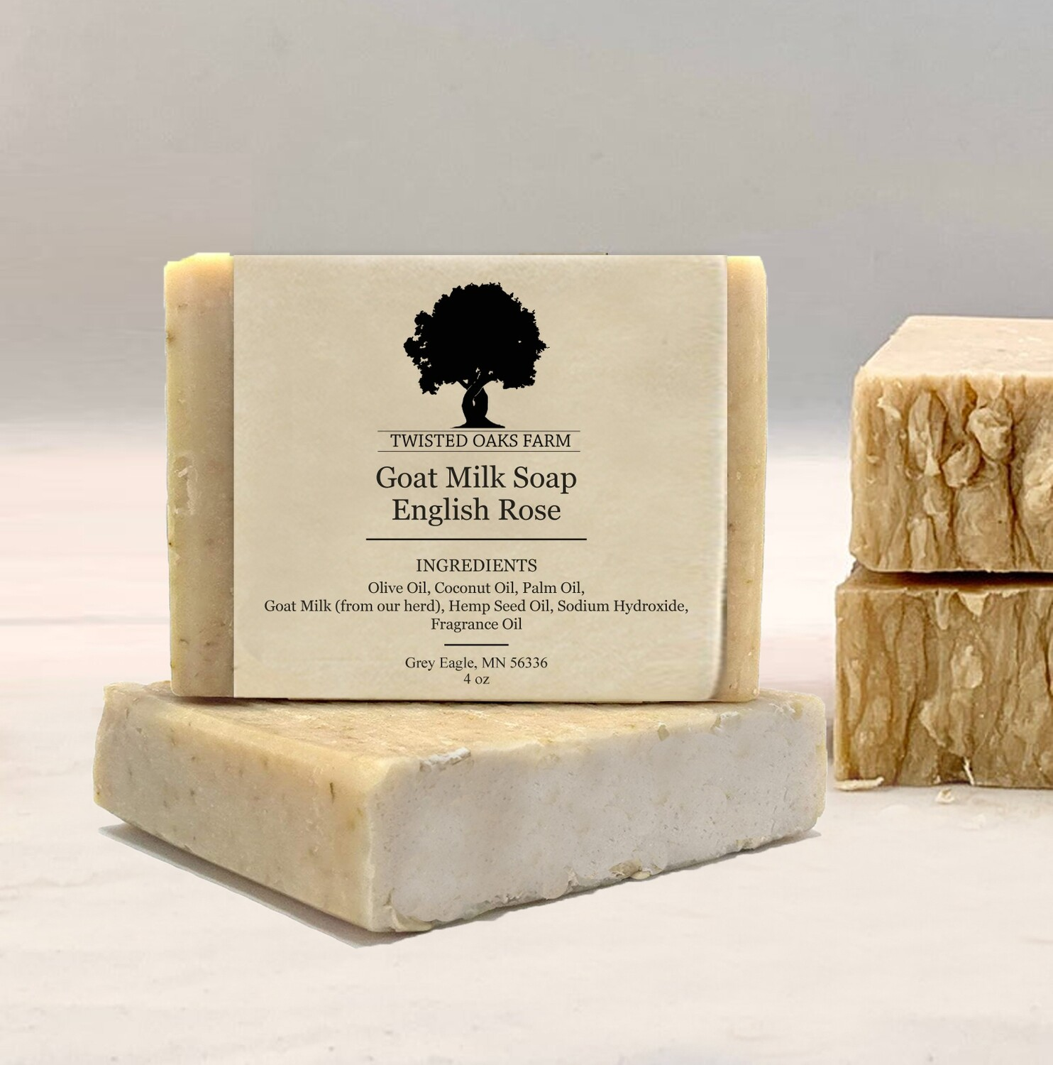 Variety 4 Pack | Hemp Oil Goat Milk Soap | Locally Made
