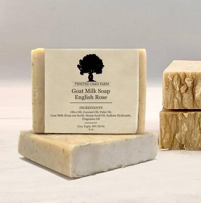 Variety 4 Pack | Hemp Oil Goat Milk Soap | Locally Made
