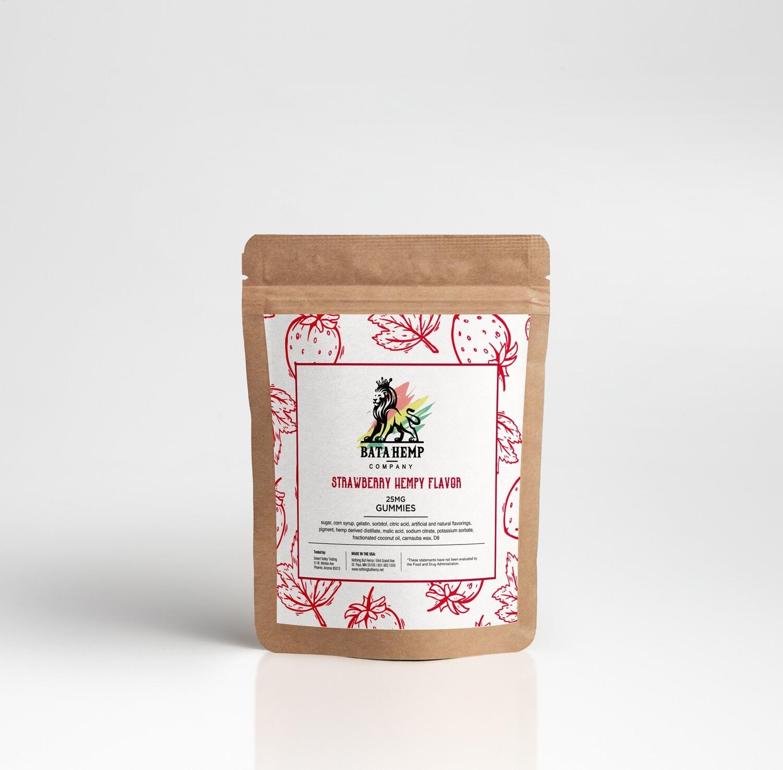 Bata D8 Hemp | Strawberry Gummies  | 250MG | 10 Pack